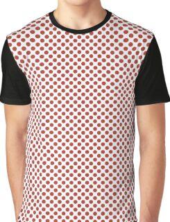 Aurora Red Polka Dots Graphic T-Shirt
