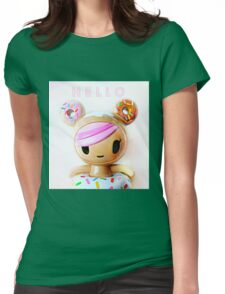 Hello Kawaii Womens Fitted T-Shirt