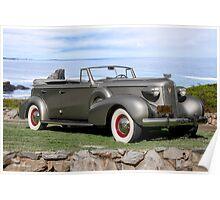 1937 Cadillac Fleetwood Convertible Sedan Poster
