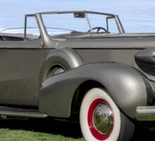 1937 Cadillac Fleetwood Convertible Sedan Sticker