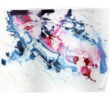 Pink and blue abstract Poster