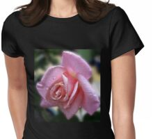 The Magic of Raindrops - Rose in the Rain Womens Fitted T-Shirt