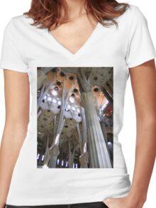 The pillars of the art Women's Fitted V-Neck T-Shirt