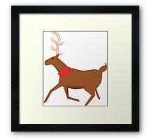 Reindeer Design Framed Print