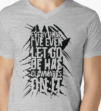 Krallenspuren (Schwarz) Mens V-Neck T-Shirt