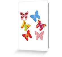 Colorful Butterflies Greeting Card