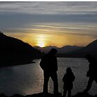 Silhouettes At Sunset  by Heather Friedman