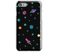 Space Odyssey : Galaxy Rocket Planet Design Print iPhone Case/Skin