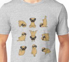 Funny Yoga Pugs Dogs Meditation Chakra Hatha Gift Shirt Unisex T-Shirt
