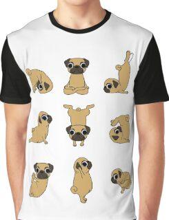 Funny Yoga Pugs Dogs Meditation Chakra Hatha Gift Shirt Graphic T-Shirt