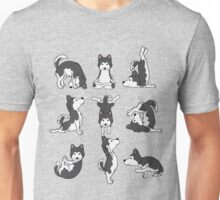 Funny Yoga Siberian Husky Dogs Meditation Chakra Hatha Gift Shirt Unisex T-Shirt