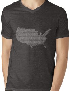 America Constitution Shape Map Mens V-Neck T-Shirt
