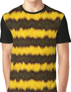 Bee Fur Stripes Graphic T-Shirt