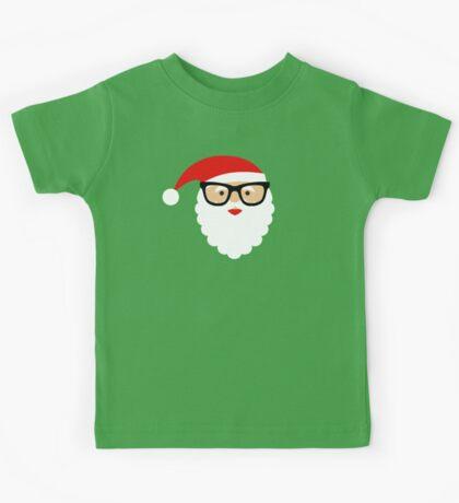 Nerd/Hipster Santa Kids Tee