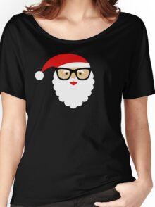 Nerd/Hipster Santa Women's Relaxed Fit T-Shirt