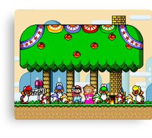 Super Mario World End Canvas Print