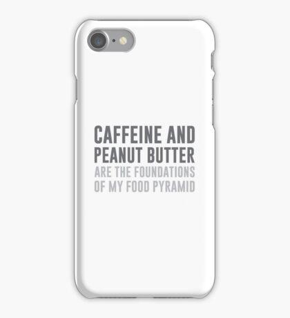 Caffeine & Peanut Butter Food Pyramid iPhone Case/Skin
