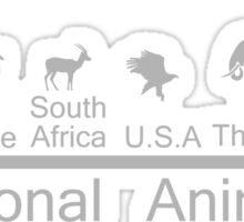 National animals Sticker