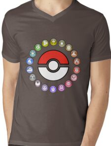 Pokemon Type Wheel v2 Mens V-Neck T-Shirt