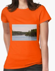 river landscape Womens Fitted T-Shirt