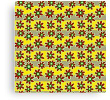 Yellow Red Flowers Canvas Print
