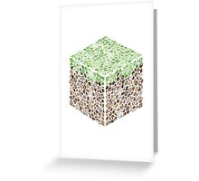 Minecraft Cube of Minecraft Greeting Card
