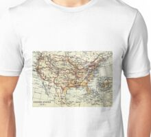 Old map of America 1865 - 1907 Unisex T-Shirt