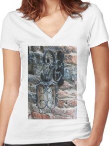 old lamp Women's Fitted V-Neck T-Shirt