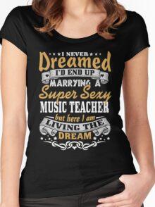 Music teacher T-shirt Women's Fitted Scoop T-Shirt