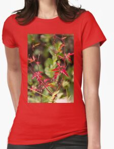 flower in the garden Womens Fitted T-Shirt