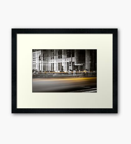 New York City Cab Framed Print