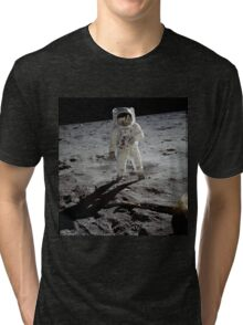 Buzz Aldrin on the moon | Space Tri-blend T-Shirt