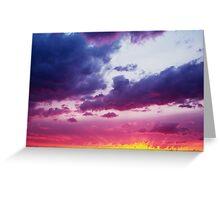 Fantastic Dramatic Sunset Sky  Greeting Card
