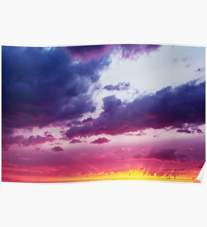 Fantastic Dramatic Sunset Sky  Poster