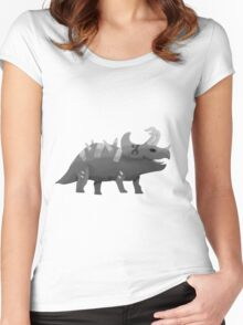 Triceratops Ink Women's Fitted Scoop T-Shirt