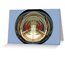 Classic car as abstract art Greeting Card