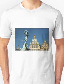 Belgian Architecture/Brawny Man - Travel Photography T-Shirt
