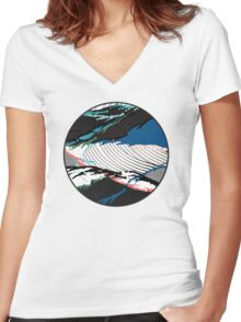 ※ Stormy Sea ※ Women's Fitted V-Neck T-Shirt