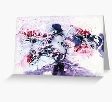 Purple, blue and pink abstract  Greeting Card
