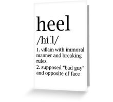 Heel definition Greeting Card