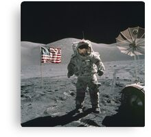 Man on the moon | Space Canvas Print