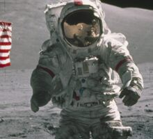 Man on the moon | Space Sticker