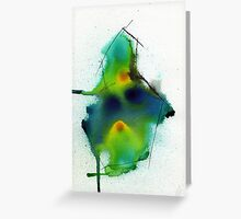 pear abstract Greeting Card