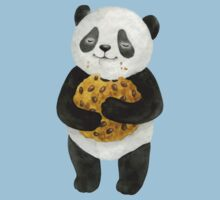 happy panda with cookie One Piece - Short Sleeve