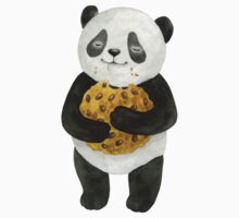 happy panda with cookie Kids Tee