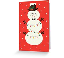 SNOWMAN IN RED Greeting Card