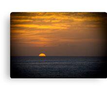 Sunrise at dawn golden sky Canvas Print