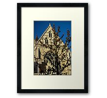 Majestic Cathedral/Hidden by the Tree - Travel Photography  Framed Print