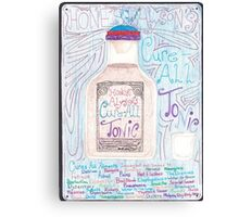Honest Alyson's Cure All Tonic Canvas Print