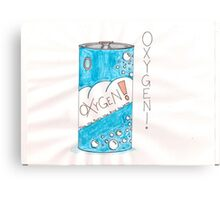 Can Of Oxygen Canvas Print